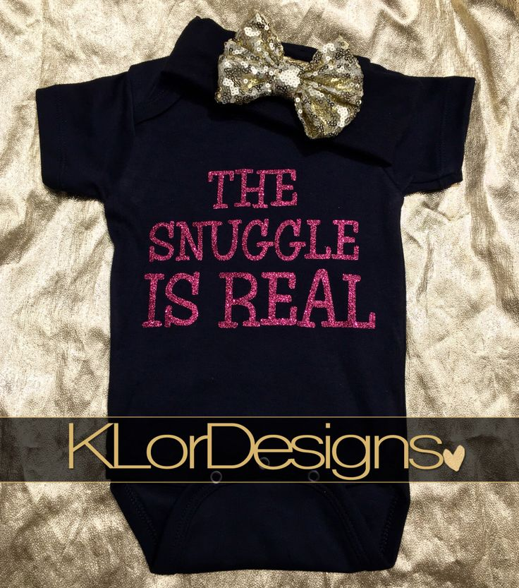 The Snuggle is Real onesie - Gold Glitter baby bodysuit, black and gold jumper, coming home outfit, baby girl romper, adorable baby by KLorDesigns on Etsy https://www.etsy.com/listing/266745352/the-snuggle-is-real-onesie-gold-glitter