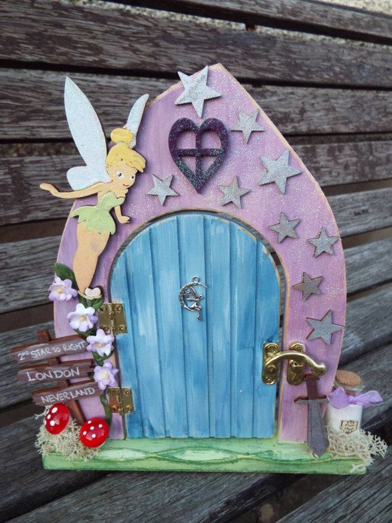 45 best fairy doors images on pinterest fairy doors for Tinkerbell fairy door