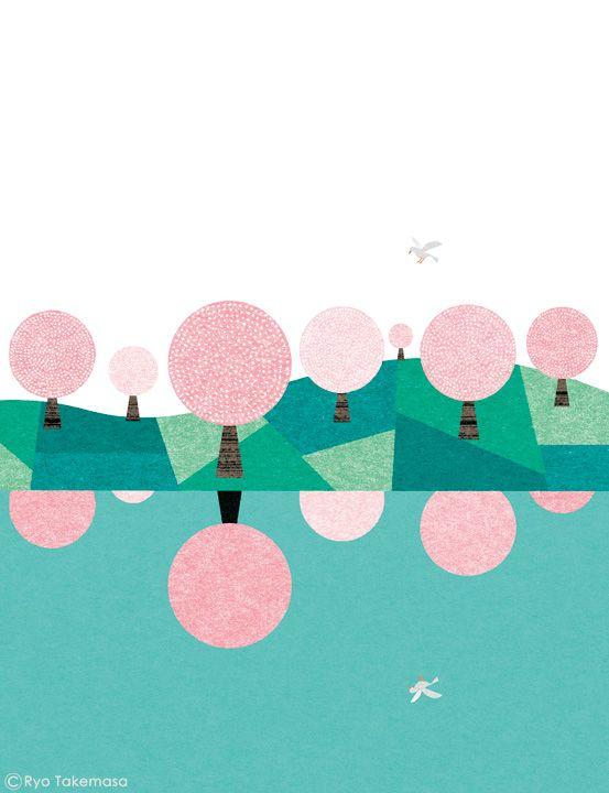 博報堂健康保険組合の季刊誌『Kenpo News』2015年4月号の表紙イラストレーションを担当しました。 Cover illustration for Kenpo News magazine, April 2015 issue.