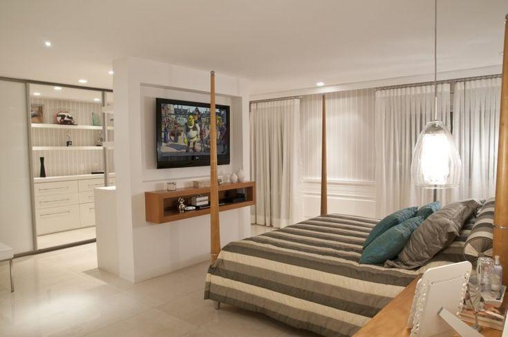 quarto casal divisoria cama closet Bedroom Pinterest