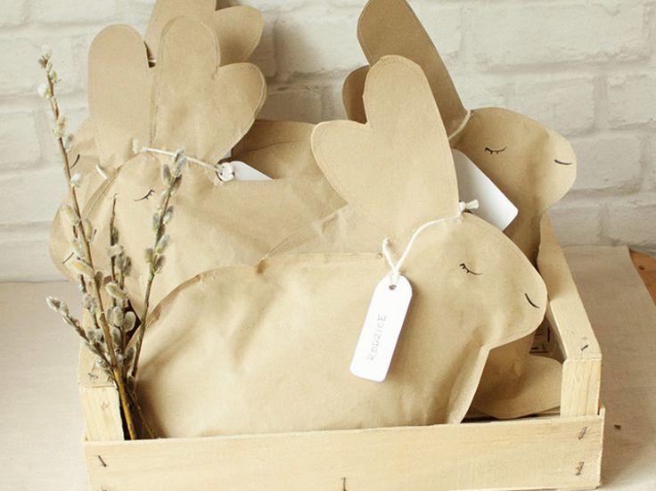 DIY-Anleitung: Ostergeschenke kreativ verpacken: Papierhasen befüllen via DaWanda.com