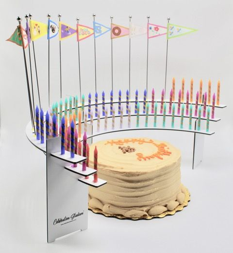 Centerpiece For Your 50th Birthday Party Celebration Stadium Candle Holders No Wax Drips On Cake More Sanitary Blowing Out The Candles