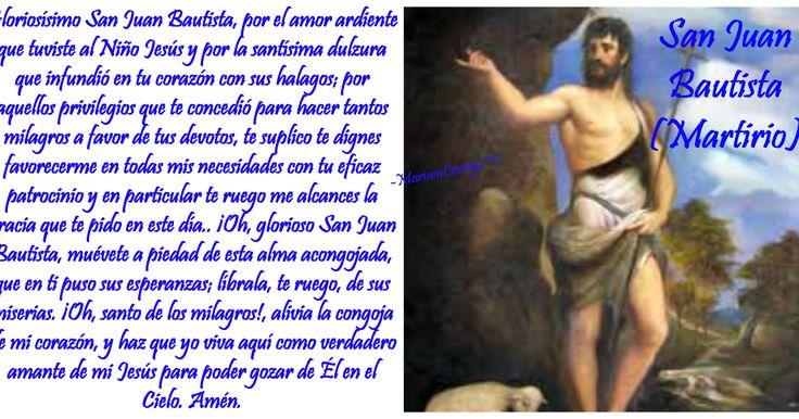 """JUAN BAUTISTA (MARTIRIO) """"El Precursor de Cristo"""" Reino herodiano, Israel - Maqueronte, Jordania (5 a.C. †28 d.C.) - See more at: http://santoralmariareina.blogspot.com/2012/08/santo-de-hoy-30-de-agosto.html#sthash.SR7Dbu34.dpuf"""