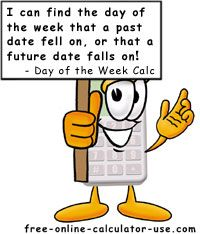 Day of the Week Calculator. I need to just learn the algorithm.