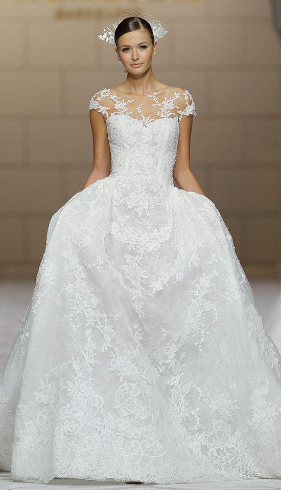Beautiful  Pronovias Bridal Show In Barcelona Spain