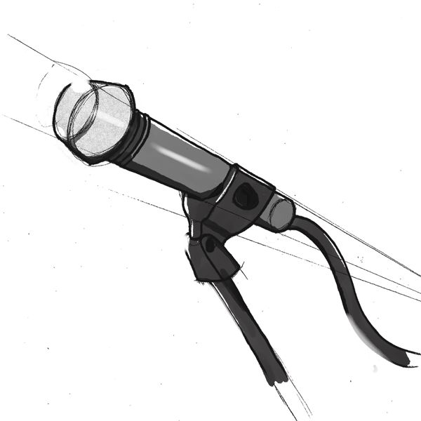 Product drawing of a microphone stand for a client