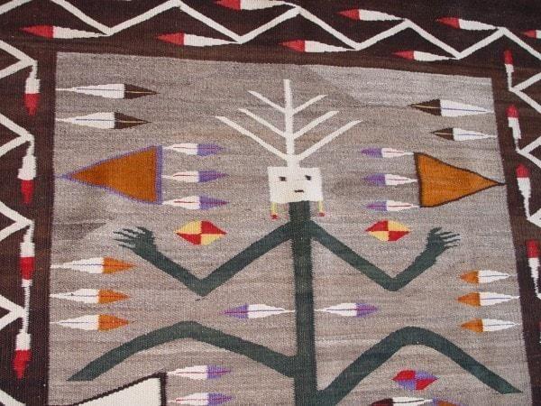 Yei Cornstalk Pictorial Navajo Weaving : Historic : GHT 2027 ...