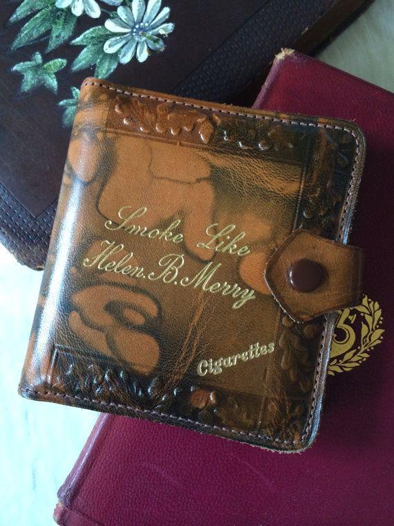 Vintage 40s leather cigarette case / wallet  Smoke Like Helen B Merry, by Boo York City, £20.00.  https://www.etsy.com/uk/listing/203353435/vintage-40s-leather-cigarette-case