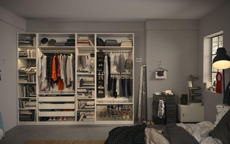 Las 25 mejores ideas sobre armarios empotrados en for Interior de armarios ikea
