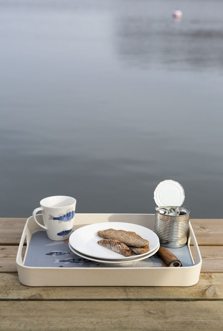Ahti Tray | Pentik | Designed by Lasse Kovasen, this Ahti tray brings to mind those hazy summer mornings, fishing trips and loon cries, both in the cottage and at home.