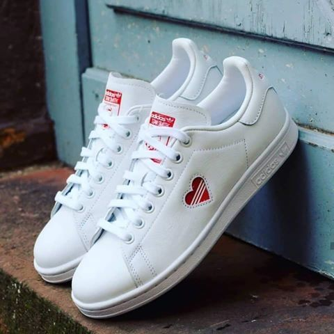 adidas Stan Smith Red Heart Valentine's Day Shoes | Shoes in