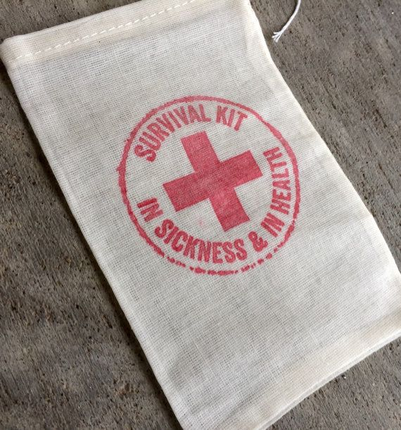 25 survival kits wedding favor bags recocery by EverlongEvents