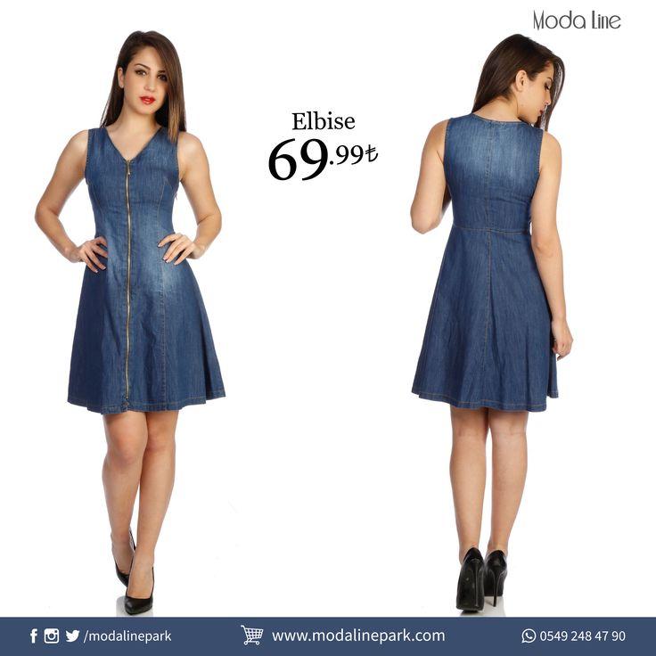 Jean #elbise ile spor şıklığı yakalayın! Ürüne ulaşmak için: http://goo.gl/wni4m2