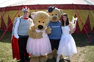 The babyballet characters Twinkle, Teddy, Flutterby and Grandad Jack...say cheese!!!! www.babyballet.co.uk