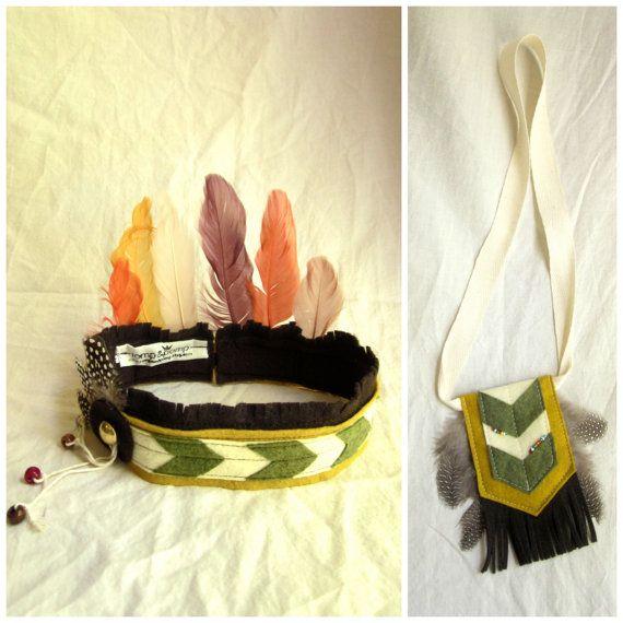 Indische Prinzessin Kopfschmuck & Halsband - Mädchen-Kostüm-Set