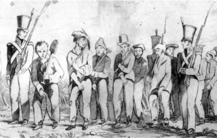 convicts were all sent to Botany Bay, but by the early 1800s they were also being sent directly to destinations such as Norfolk Island, Van Diemen's Land, Port Macquarie and Moreton Bay.