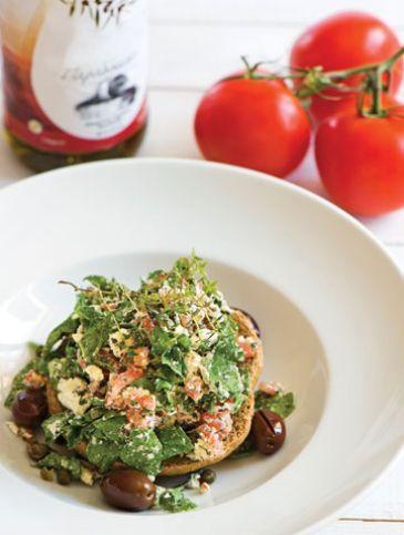 Σαλάτα νέος ντάκος   Συνταγές, Σαλάτες   Athena's Recipes