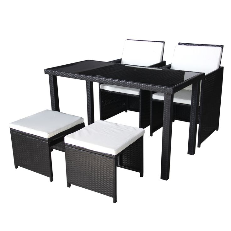 Furnish your outdoor living space with this outdoor wicker table and chairs set. This lovely set features durable metal frame and wicker construction, and removable cushions for easy maintenance.