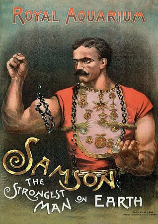 Samson  'The Strongest Man on Earth'  at London's Royal Aquarium  1889