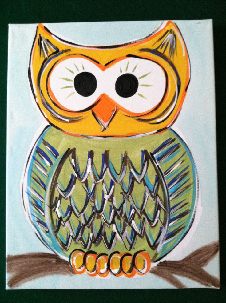 Simple Owl Painting