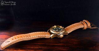 Curele de ceas, din piele, handmade. Topouzelli Straps.: Curea de ceas din seria Diver, T 836.