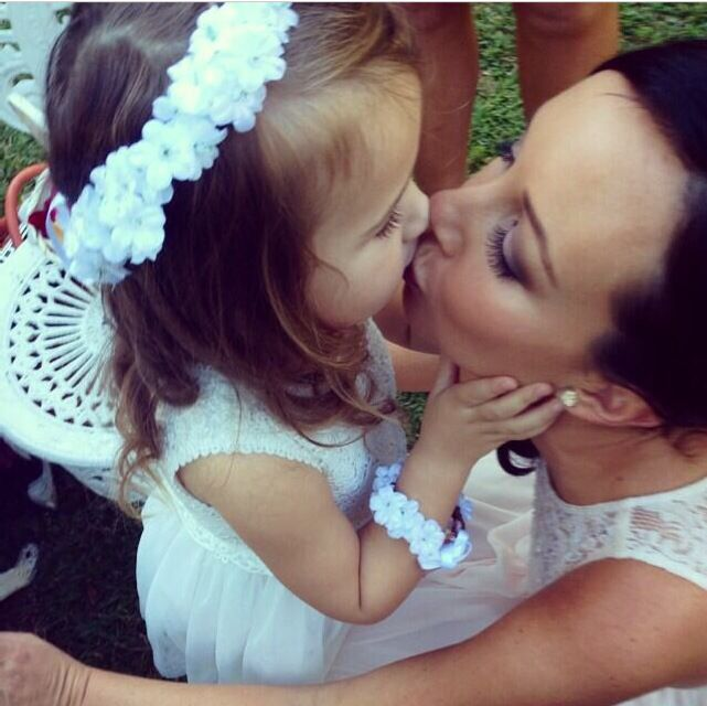 One of my bridesmaids, and her beautiful daughter who was our flower girl xx