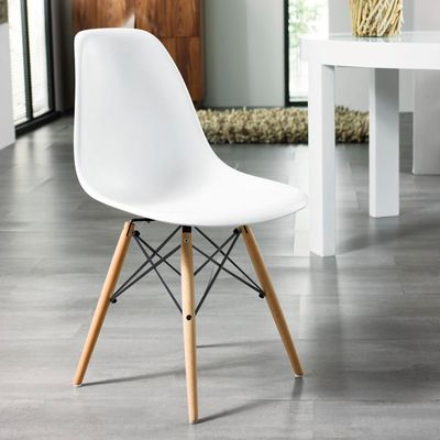 Eiffel chair with beech legs white, would look great in our open plan kitchen/diner.