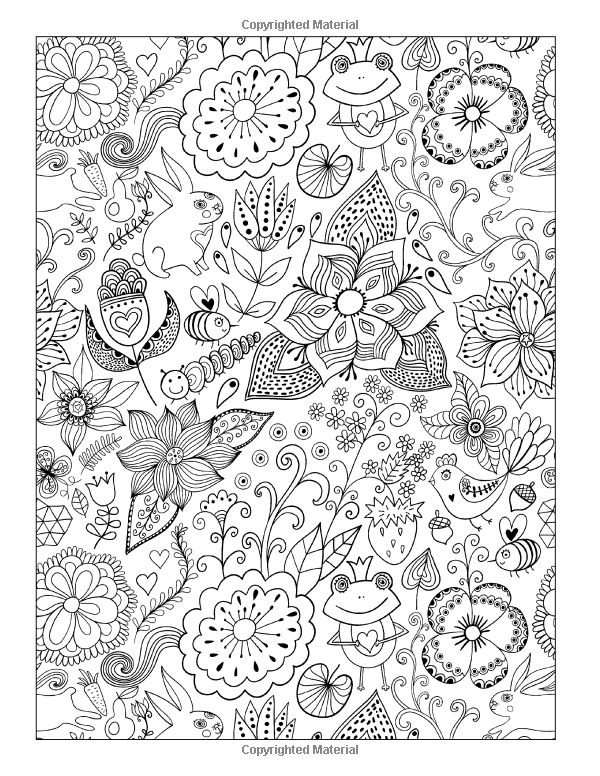 whimsical flowers coloring pages - photo#8