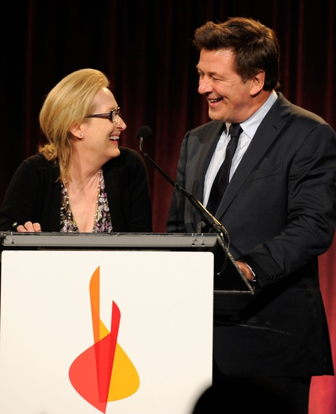 Meryl Streep with Alec Baldwin at Christopher & Dana Reeve Foundation's A Magical Evening Gala, November  2011 in NYC