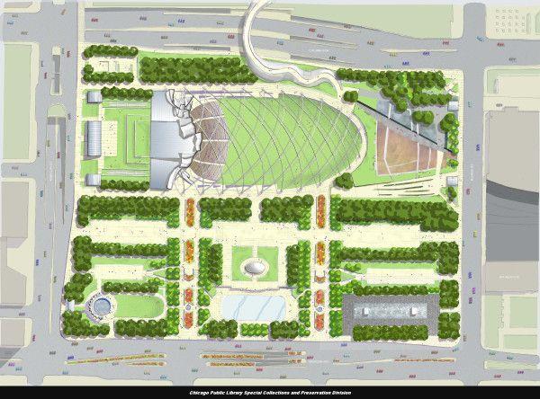 Full Park, plan, ca. May 1, 2001 milenium chicago