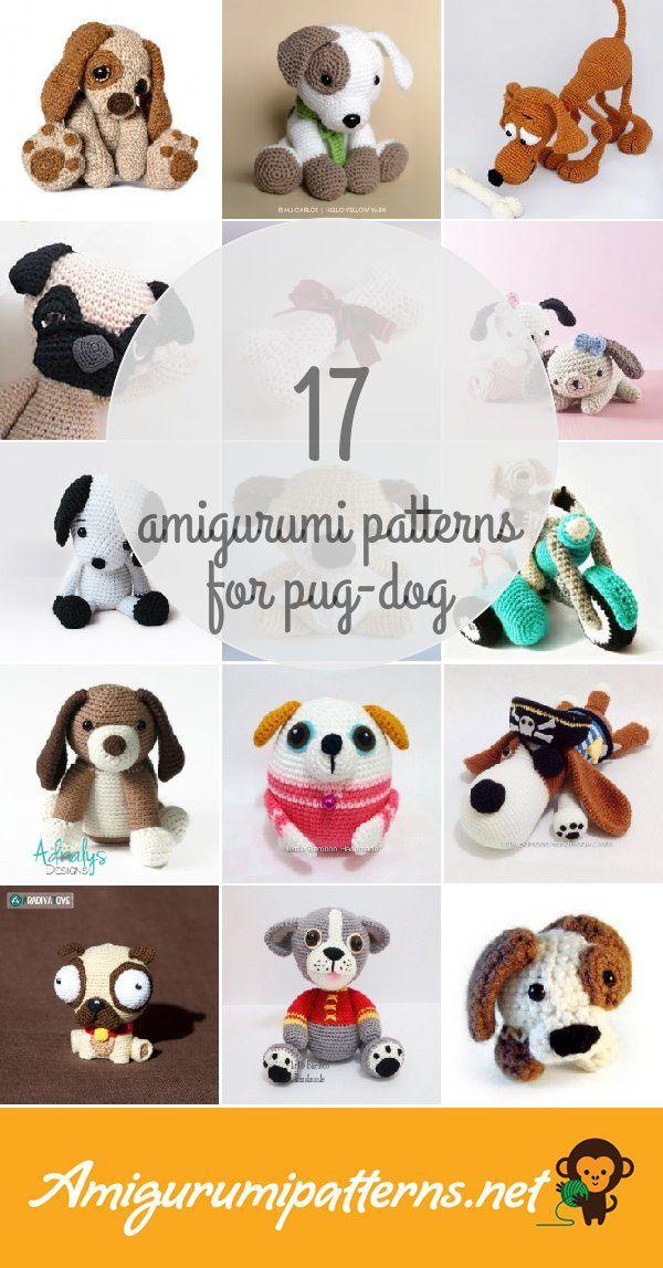 Amigurumi Patterns For Pug-dog | Patrones amigurumi | Pinterest ...