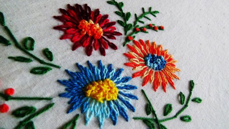 Hand Embroidery: Tailed Chain Stitch