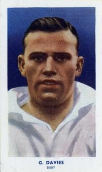 1939 R & J Hill Famous Footballers Series 2 #70 George Davies Front