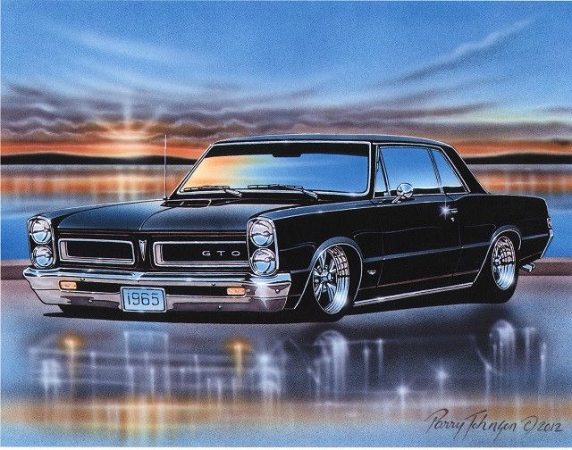 1965 Pontiac GTO Hardtop Muscle Car Kunstdruck 11 x 14 Poster   – Muscle Cars