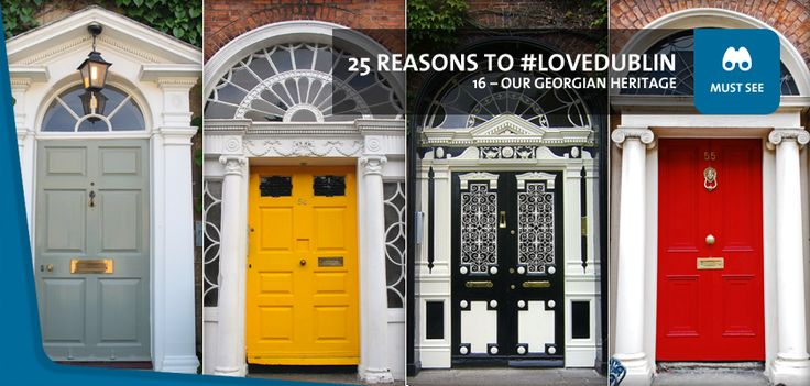 #16: Our Georgian heritage - From gardens to galleries, townhouses and squares, you'll find magnificently preserved examples of the Georgian style of architecture all over Dublin. Most noticeable of all, of course, is our countless number of gorgeous Georgian doors!