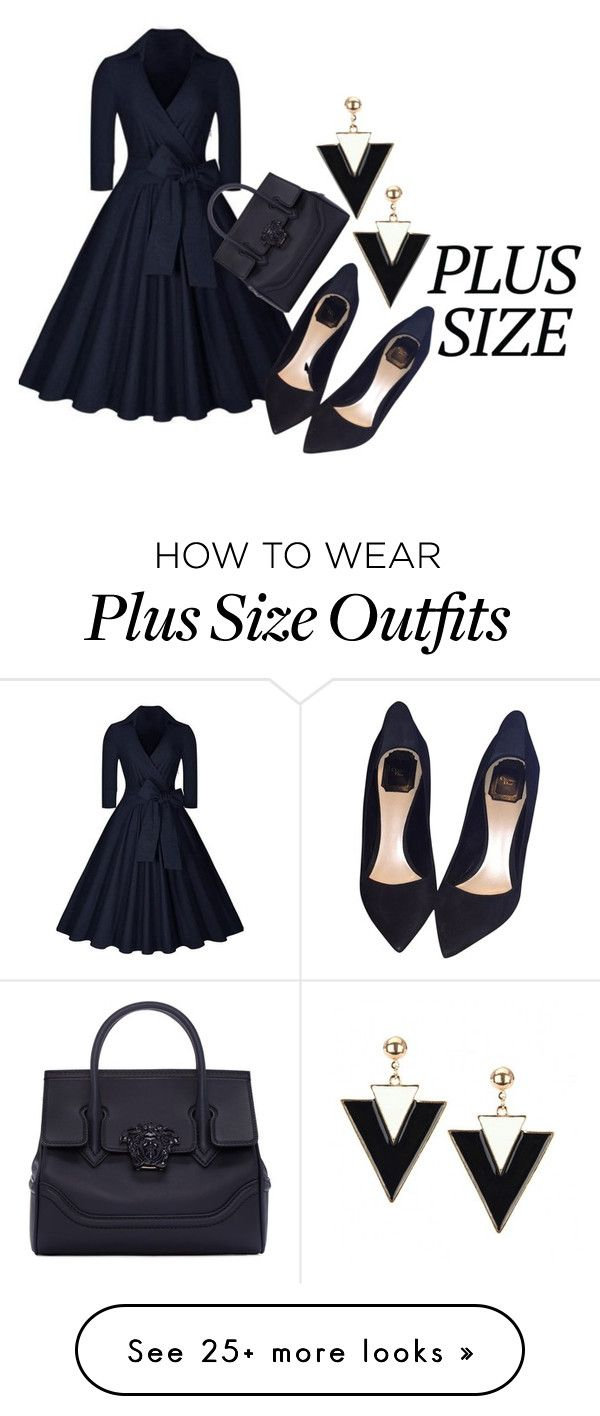 """""""Plus Size"""" by ariannapeach on Polyvore featuring Versace and Christian Dior"""