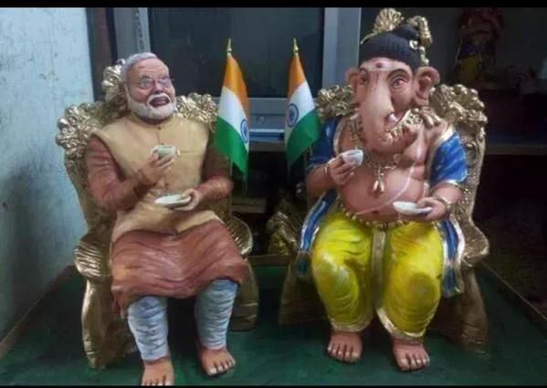 Mati ganesh wishing you all a #HappyGaneshChaturthi  and  #HappyBdayPM