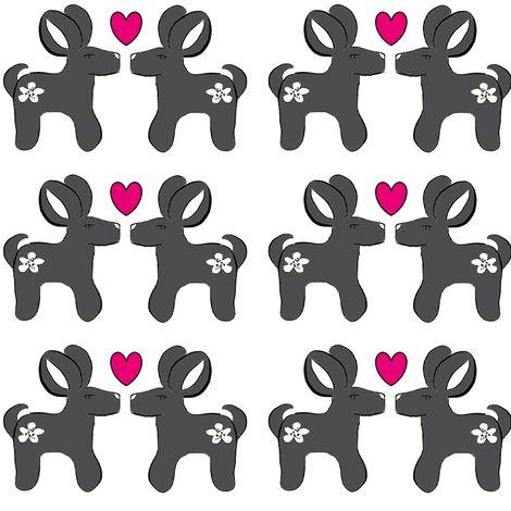 bambit_heart2-ch fabric by mayashop on Spoonflower - custom fabric