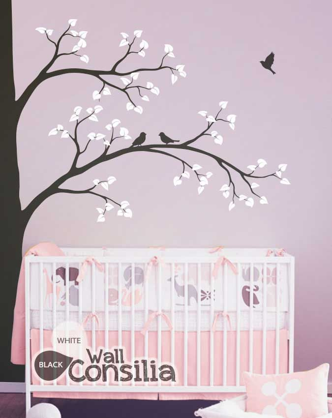 Change your rooms as often as you change your own style. You'll never get bored of staring at your walls with our beautiful corner tree decal!