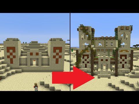 Let's Transform a Minecraft Desert Temple! - YouTube