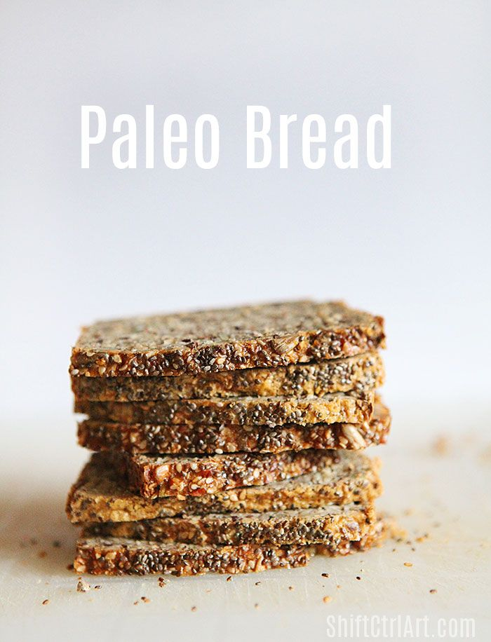 This #paleo #bread is both #grain and #gluten #free - it very good with fried apples and bacon