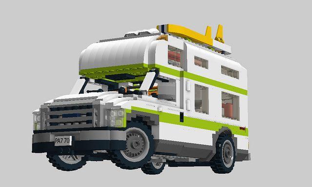 camper lego for sale pictures   Lego City Camper Nr 7639 Recreated Ford Econoline Campervan