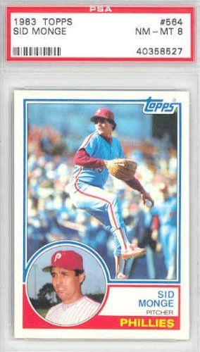 1983 Topps Baseball 564 Sid Monge Phillies PSA 8 Near-Mint to Mint by Topps. $6.00. This vintage card featuring Sid Monge is # 564 from the 1983 Topps Baseball set