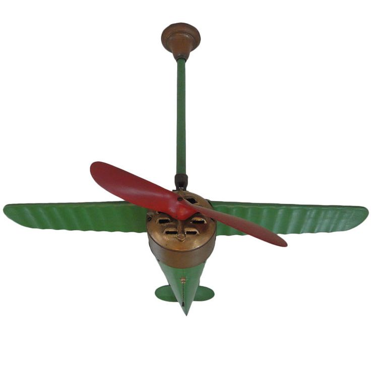 Rare Lindy Airplane Ceiling Fan | From a unique collection of antique and modern more antique and vintage finds at http://www.1stdibs.com/furniture/more-furniture-collectibles/more-antique-vintage-finds/