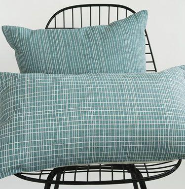 Area Linen Shop   CROSS + STRIPE pillows