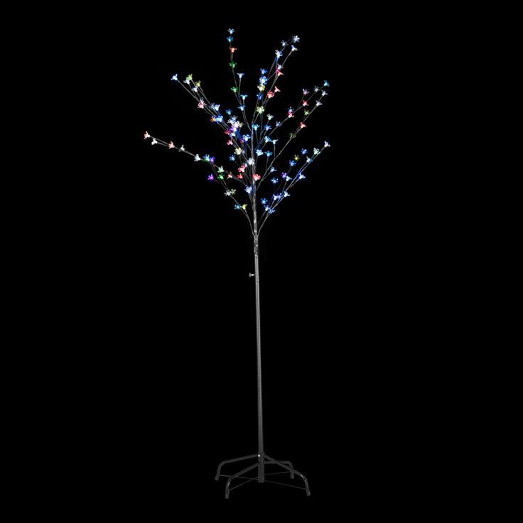 Träd flerfärgad LED ljus 180cm