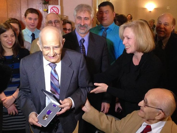 Was honored to award Purple Heart Medal to PFC Leonard Stern, WWII veteran who was injured in the Battle of the Bulge