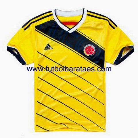 Nueva camiseta de colombia 1st 2014-2016 baratas