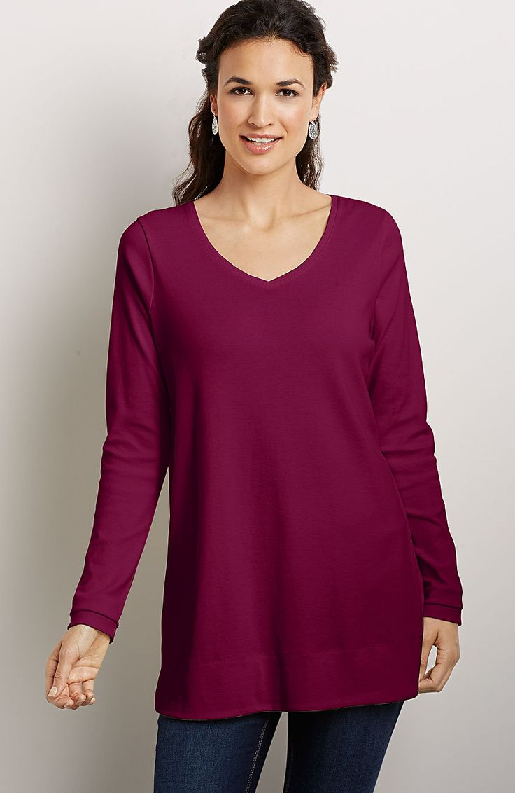Perfect Pima Cotton V Neck Tunic From J Jill Would Look