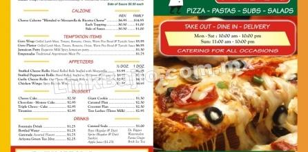 Menu para llevar Restaurante Pizzeria | Link Bajío